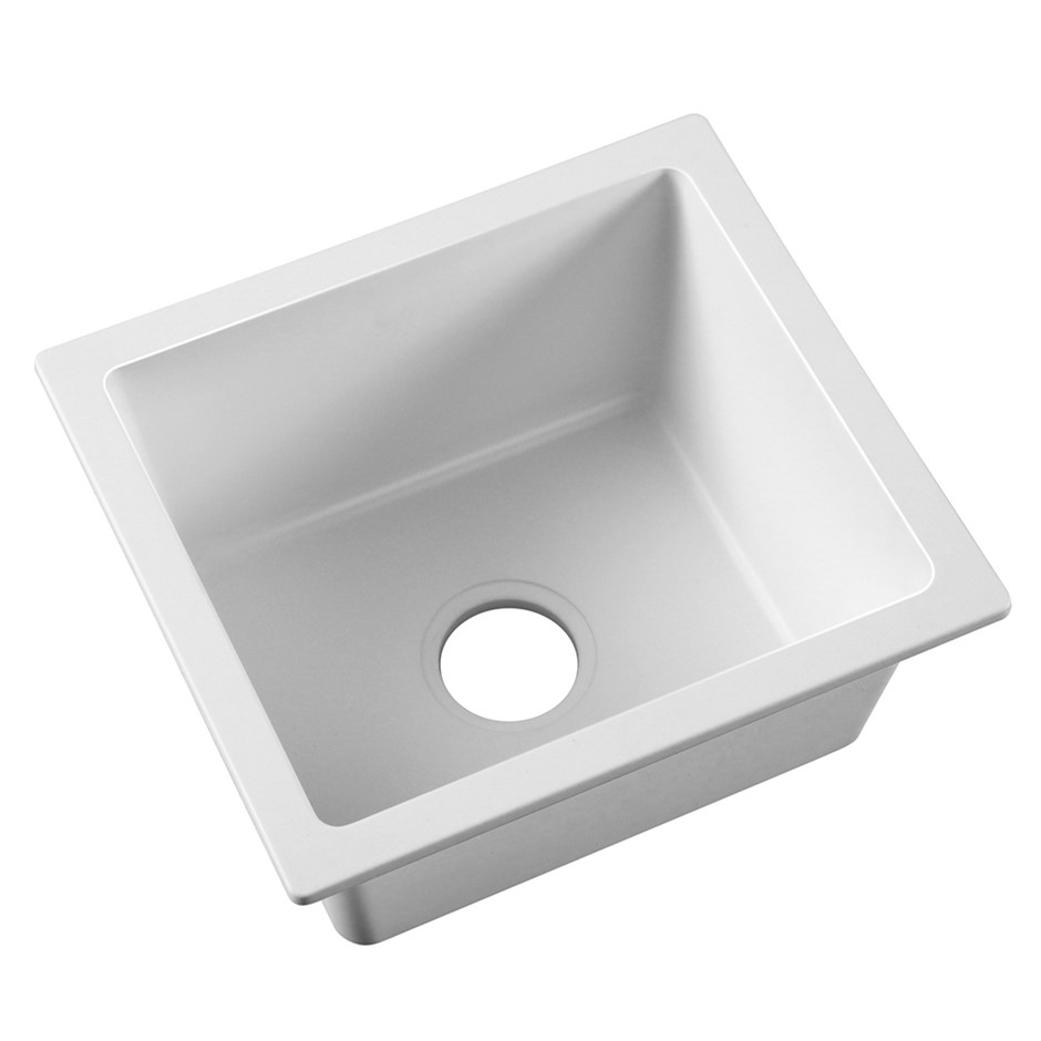Cefito 460x410mm Granite Kitchen Laundry Sink Single Bowl Top / Undermount