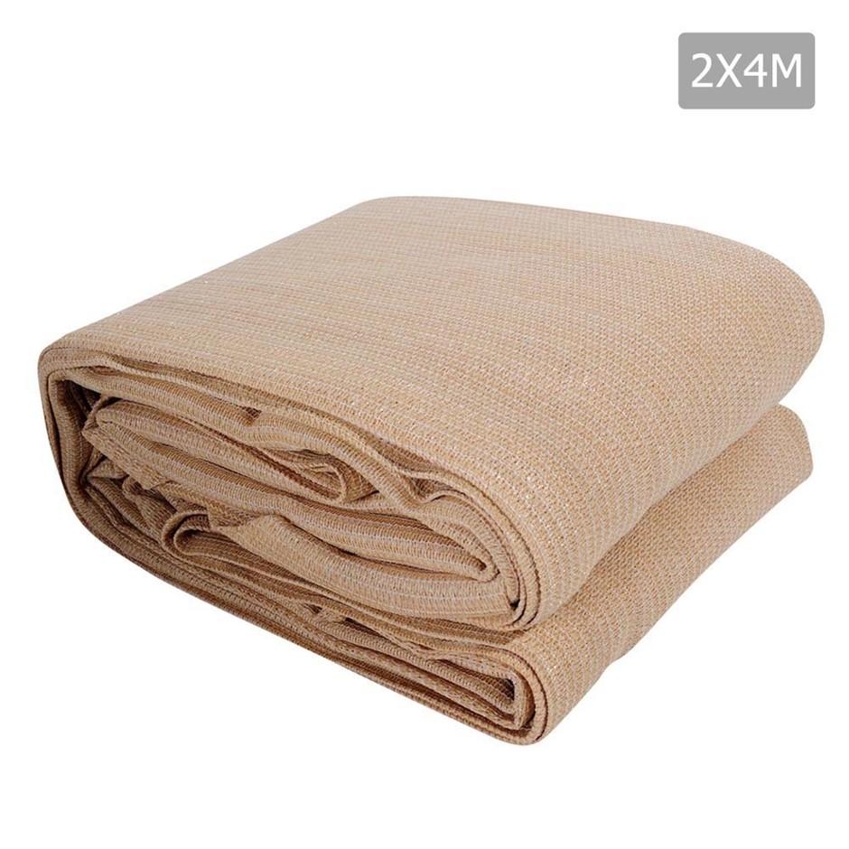 Instahut Sun Shade Sail Cloth Rectangle Canopy Sand 280gsm 2x4m Summer
