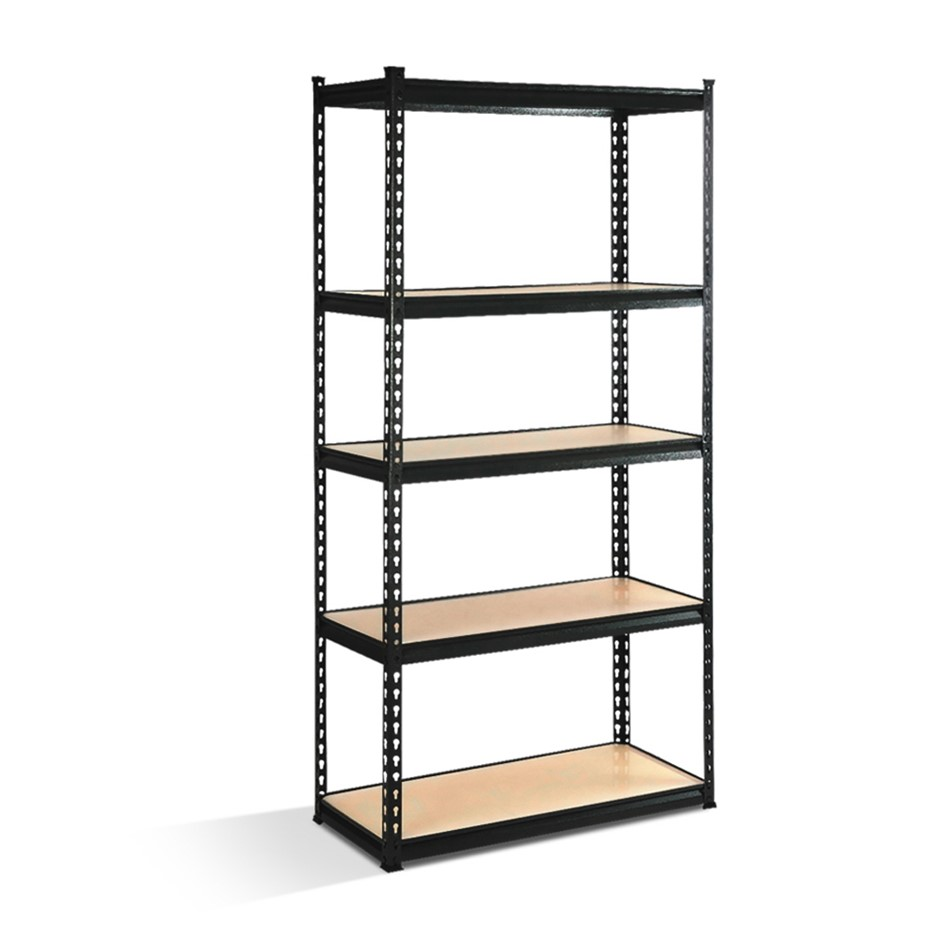 Giantz 5 Tier Shelving Unit - Black