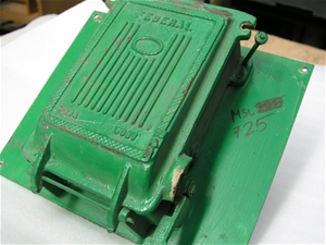 ORIGINAL OUTDOOR FEDERAL FUSE BOX; on