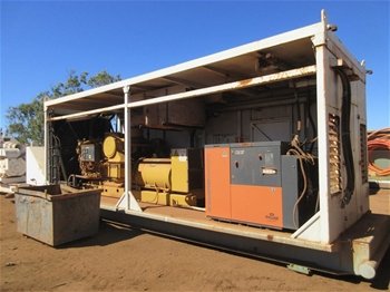 3x Skid Mounted Power Unit with 1950 kVAGenerator and Compressor
