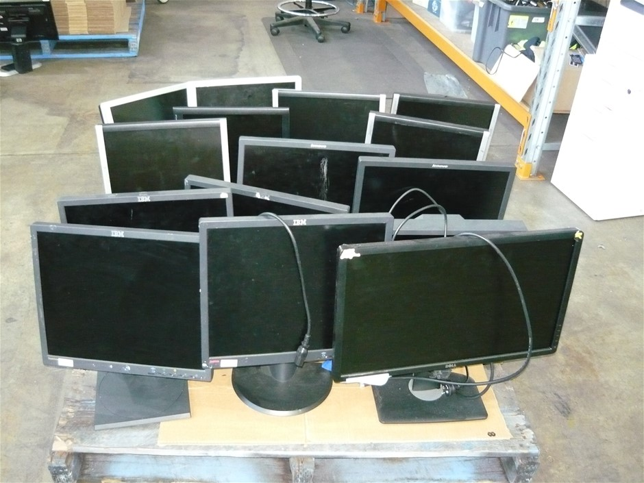 Pallet of Assorted Brand Monitors