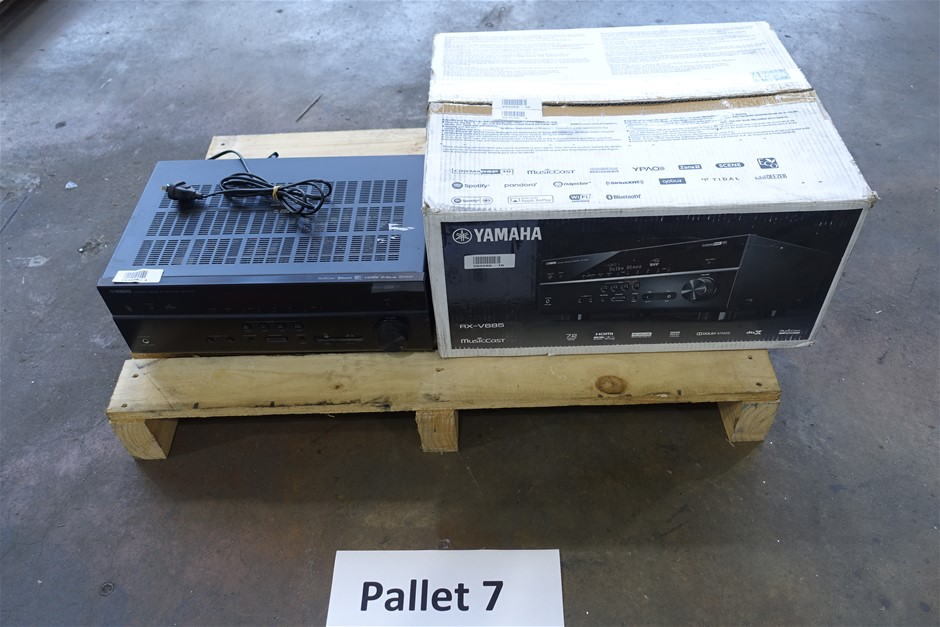 Pallet of Assorted USED/UNTESTED Yamaha AV Receivers