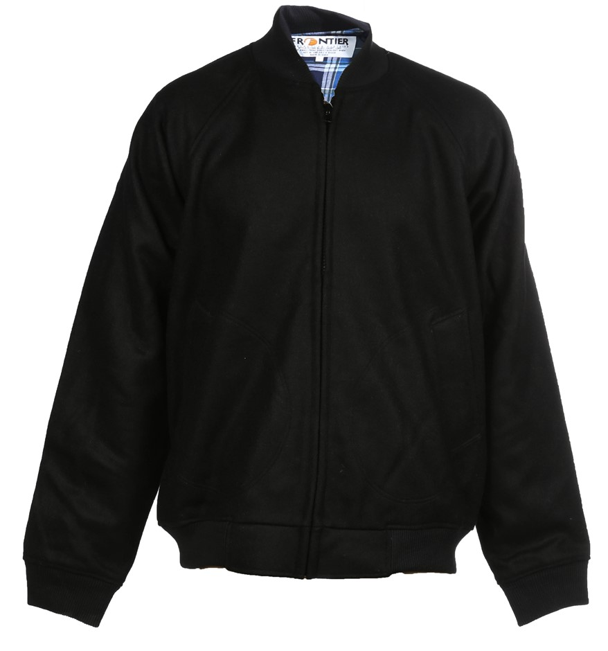 FRONTIER Flying Bluey Jacket, Size 5XL, Zip Front Closure, Knitted Ribbed C