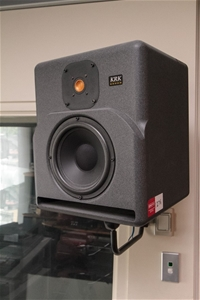 pair studio monitor speakers krk model 9000b wall mounted with panasonic 5 auction 1276. Black Bedroom Furniture Sets. Home Design Ideas