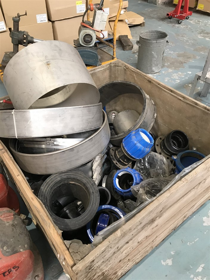 Stillage Comprising Large Assortment of Pipe Fittings