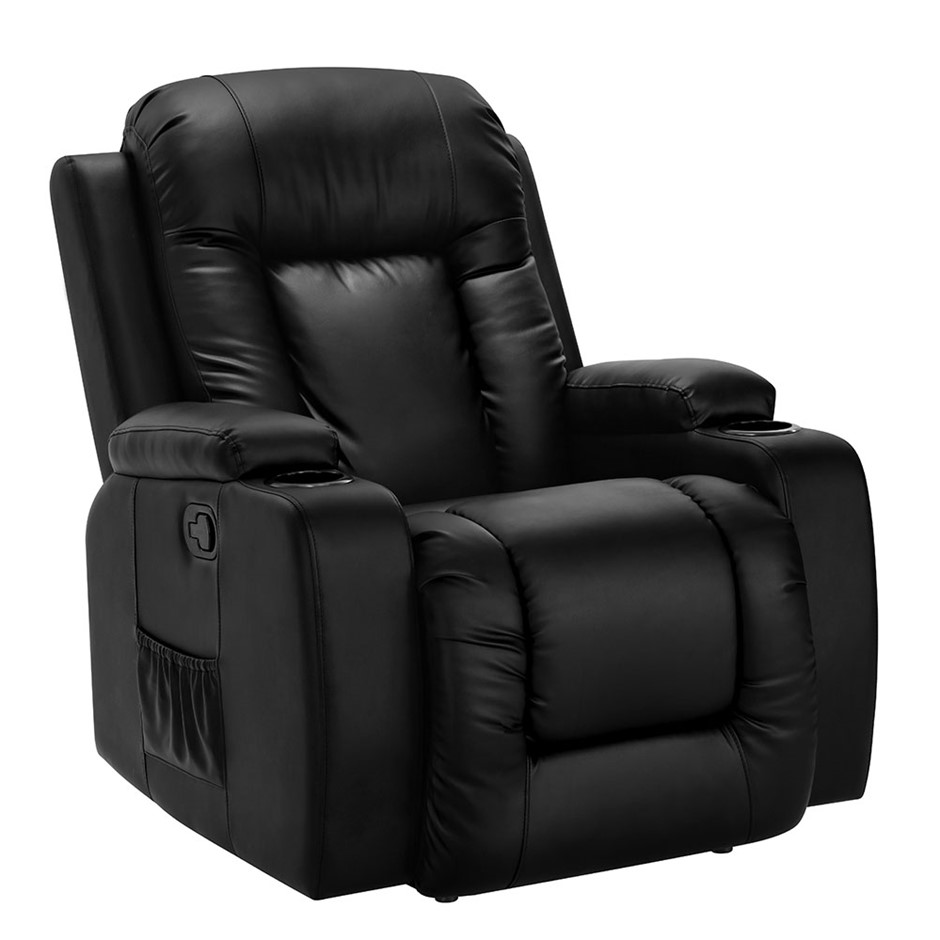 Artiss Electric Massage Chair Recliner Luxury Lounge Armchair Heat Leather