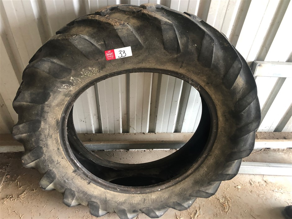"Tractor Tyre. Suit Grey ""Fergy"" 12.4 - 28"