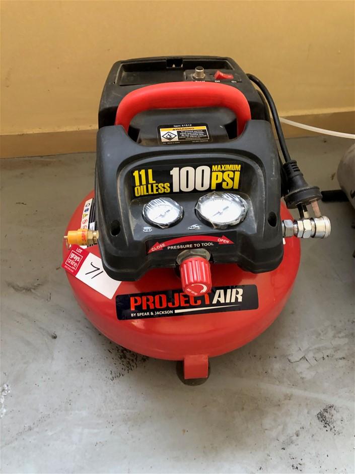 Air Compressors x 2. Compact 240 V