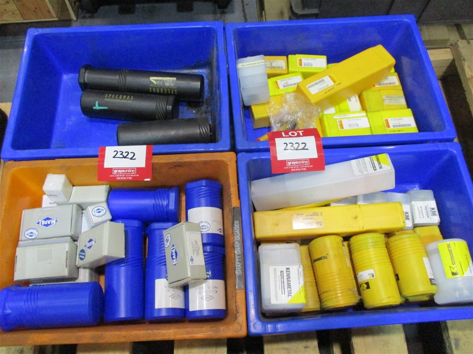 4 x Plastic Tubs of Assorted Tooling Comprising: