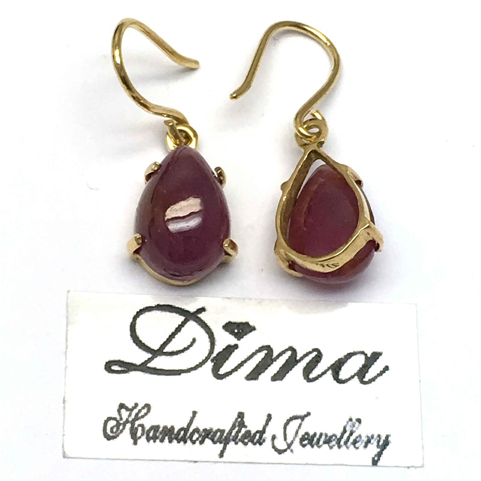 18ct Yellow Gold, 11.00ct Ruby Earring