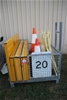 Stillage of Assorted Roadwork and Construction Signs