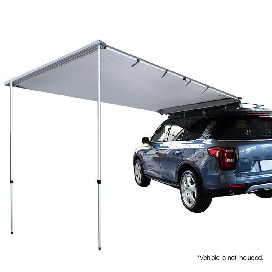Weisshorn Car Shade Awning 3 x 3m - Grey