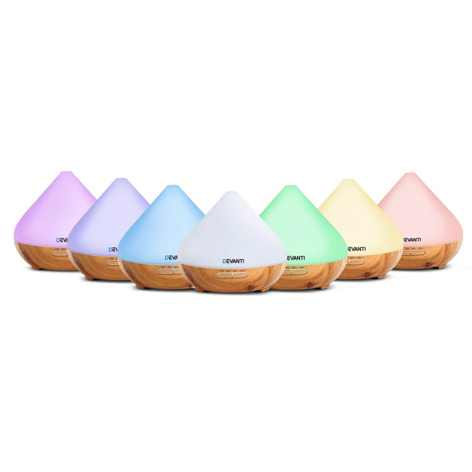 DEVANTi Aromatherapy Diffuser LED Oil Air Humidifier Purifier Mist 300ml