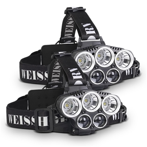 Weisshorn Set of 2 6 Modes LED Head Ligh