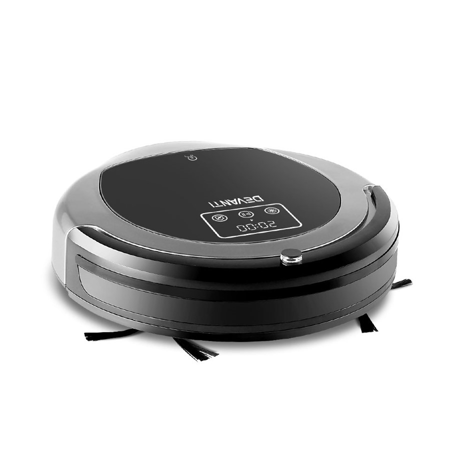Devanti Robotic Vacuum Cleaner - Black & Grey