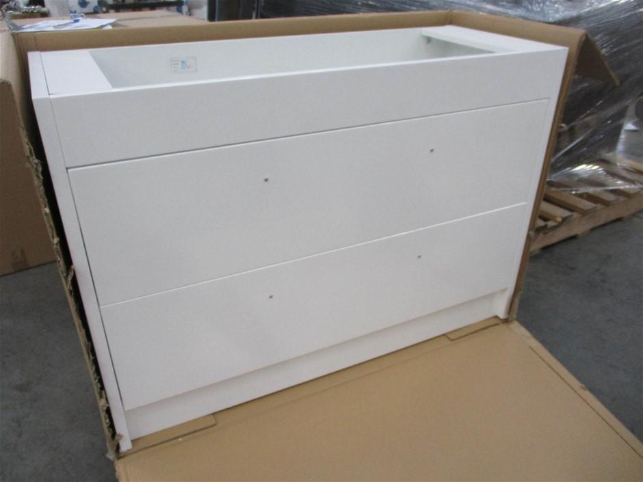 2 Drawer White Vanity Cabinet