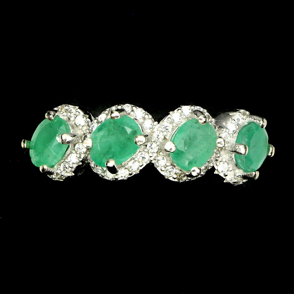 Genuine Emerald Ring.