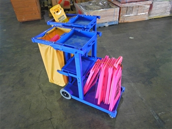 Qty 2 x Cleaners Trolleys