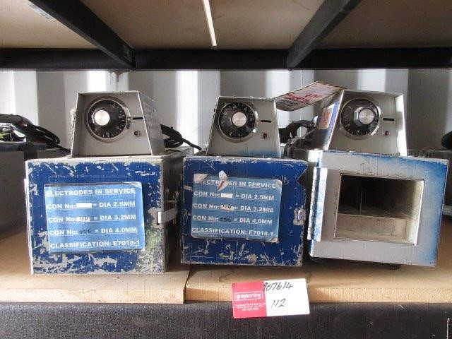 Qty 3 x Electrode Ovens