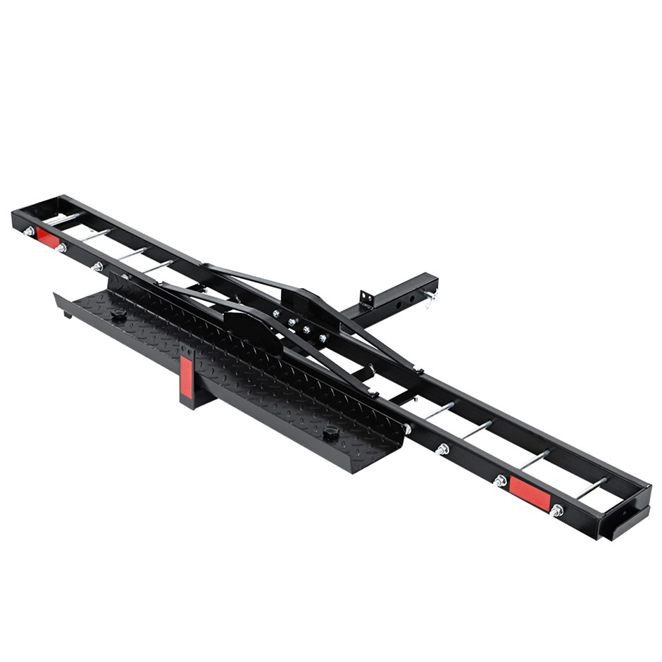Giantz Motorcycle Carrier Hauler 2'' Hitch Mount Rack Anti-Tilt Tow Bar