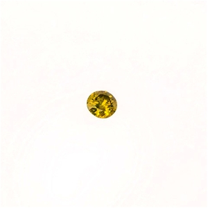 0.25ct Round brilliant cut yellow diamon