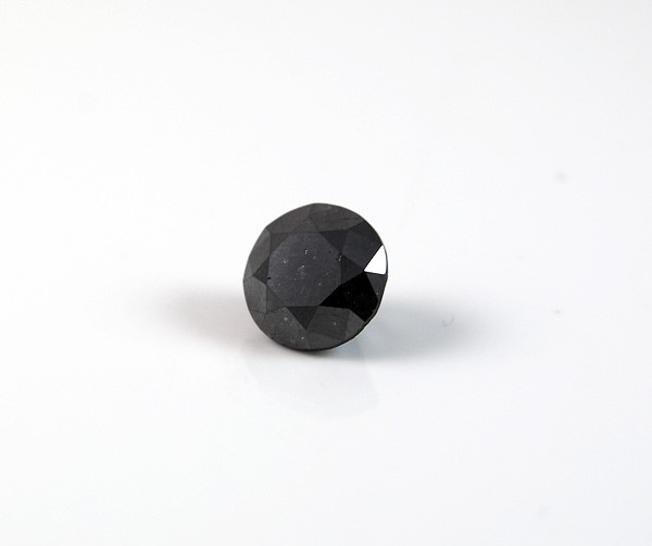2.19ct Round brilliant cut natural black diamond