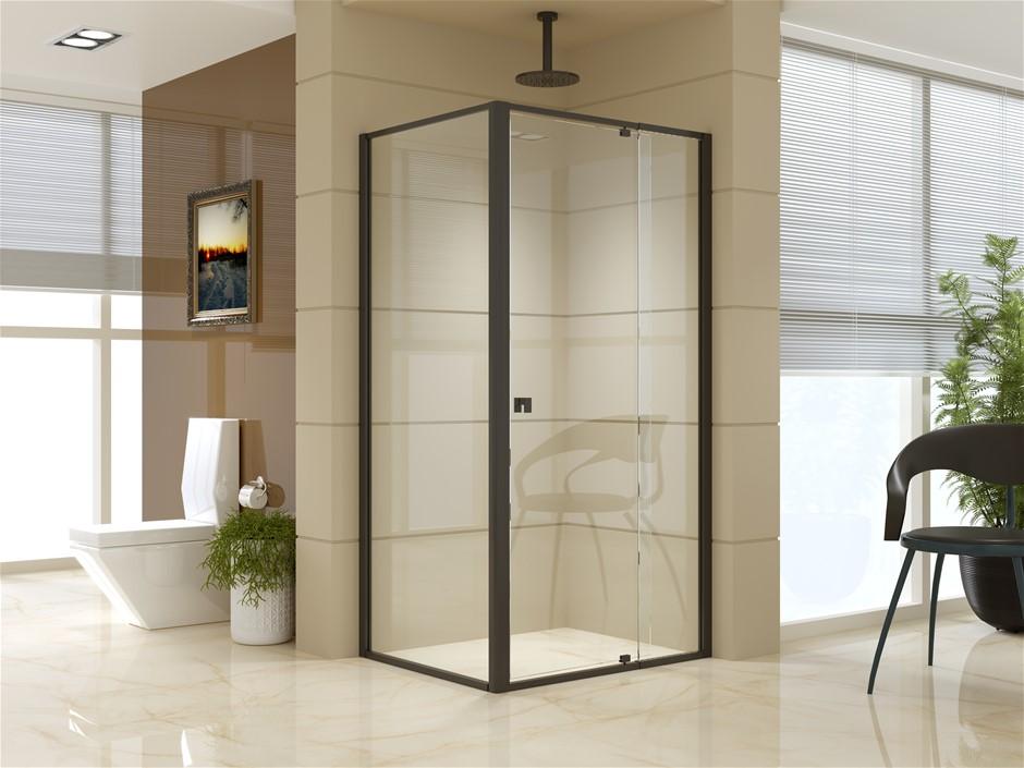 Semi Frameless Shower Screen (98~106)x 195cm & (77~80)x 195cm