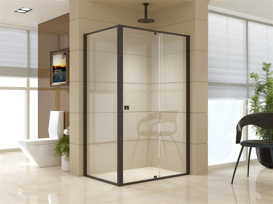 Semi Frameless Shower Screen (114~122)x 195cm & (77~80)x 195cm