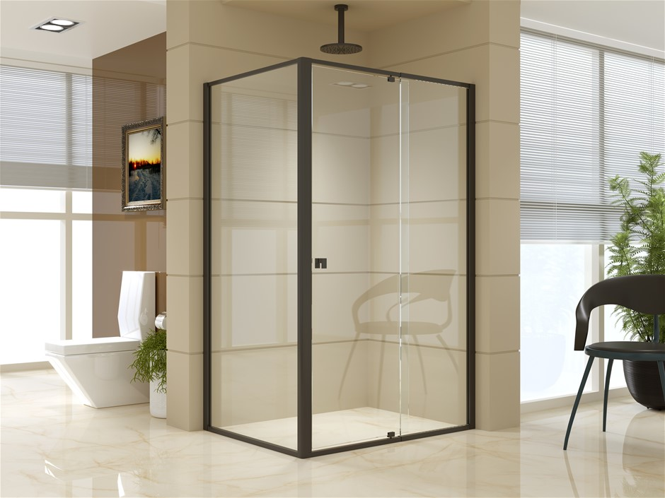 Semi Frameless Shower Screen (114~122)x 195cm & (89~92)x 195cm