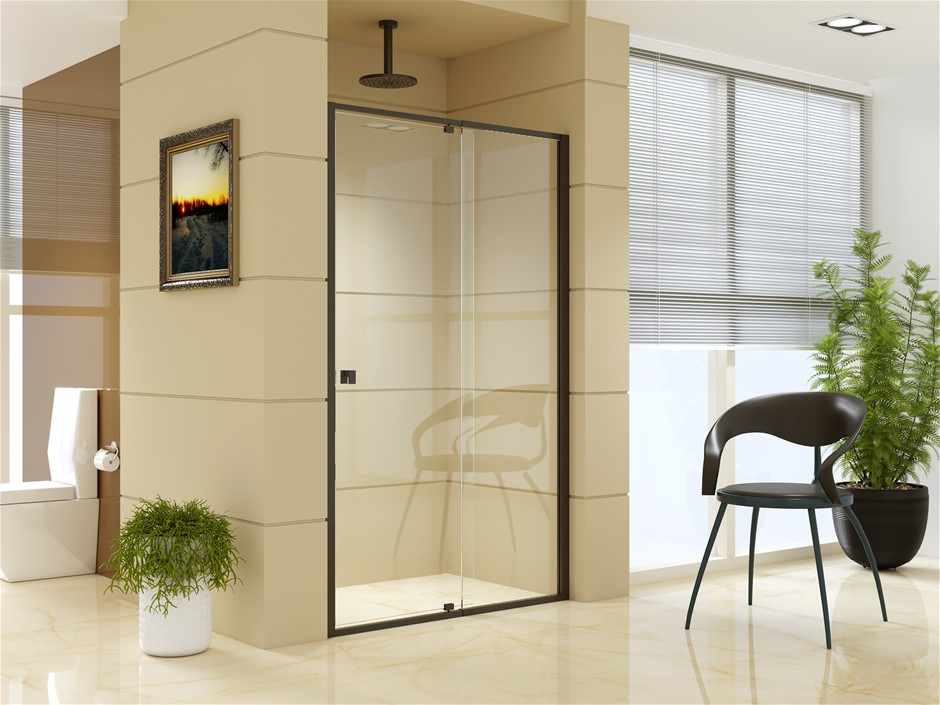 Adjustable Semi Frameless Shower Screen 195cm Australian Safety Glass