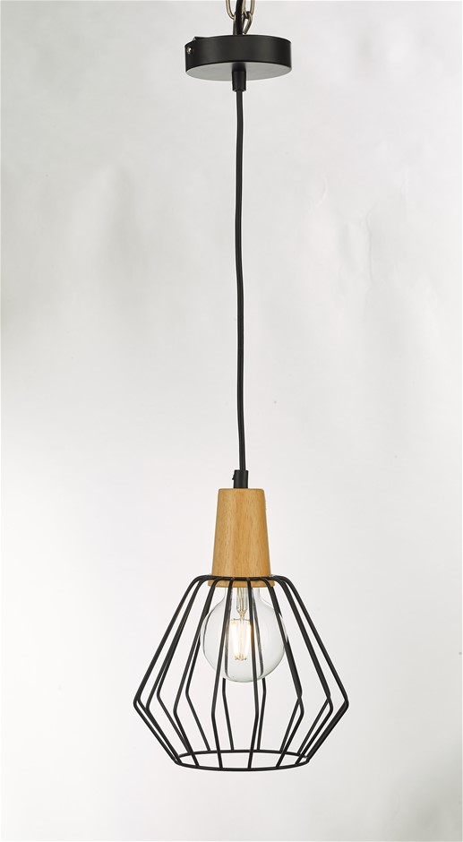 Wood Pendant Light Bar Black Lamp Kitchen Pendant Modern Ceiling Lights