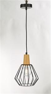 Wood Pendant Light Bar Black Lamp Kitche