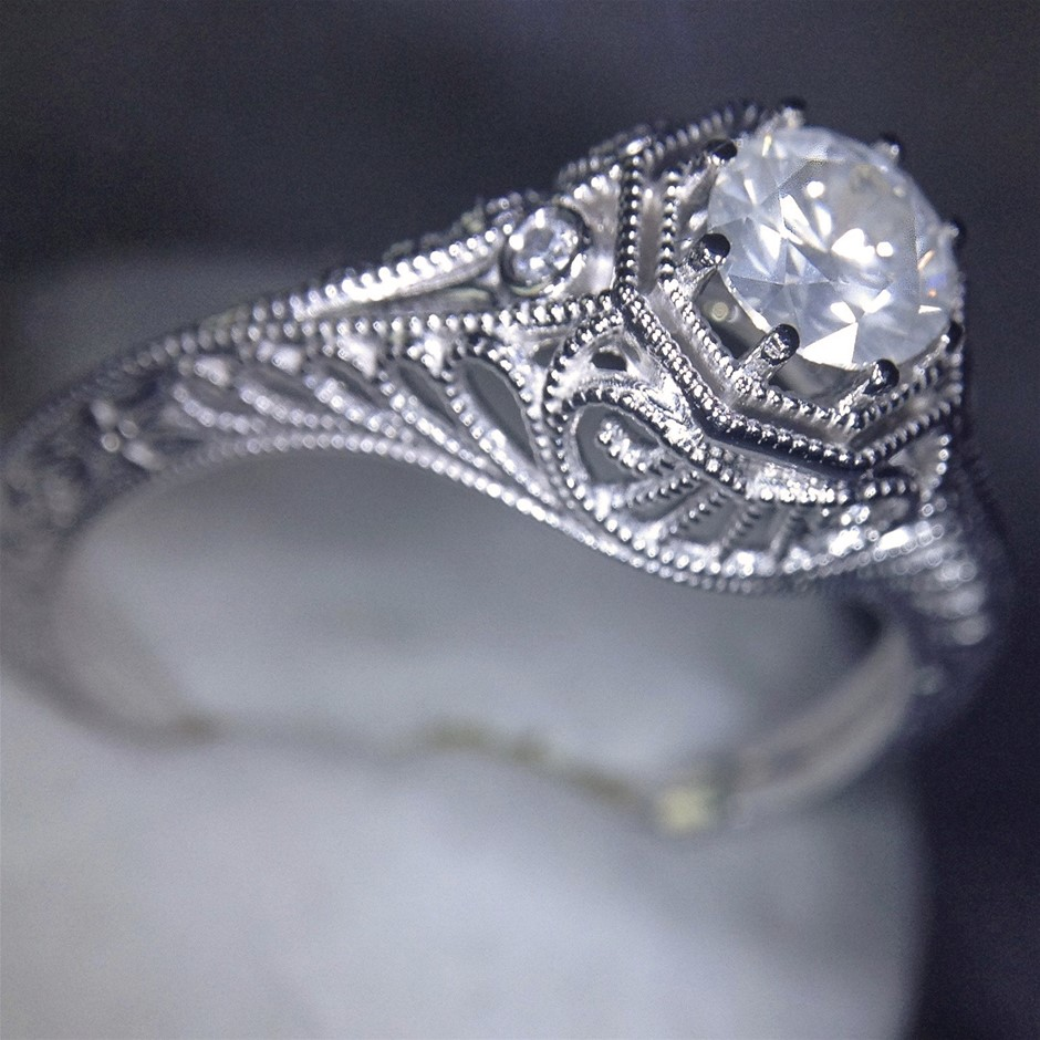 14ct White Gold, 0.31ct Diamond Engagement Ring