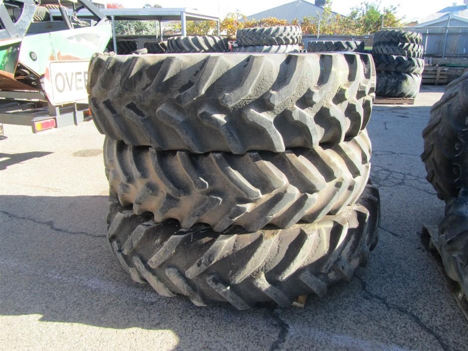 3x Tractor Tyres
