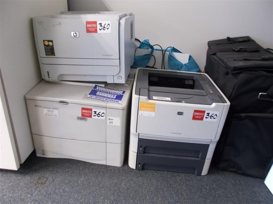 Qty 3 x HP Assorted HP Printer
