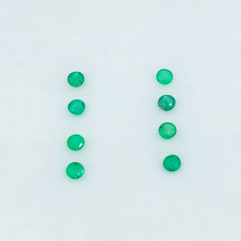1.14 ct - Parcel of Round Cut Natural Emerald