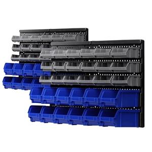 Giantz 60 Bin Wall Mounted Rack Storage
