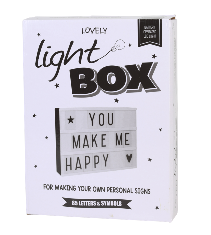 Letter Light Box w/ 85 Letters and Symbols