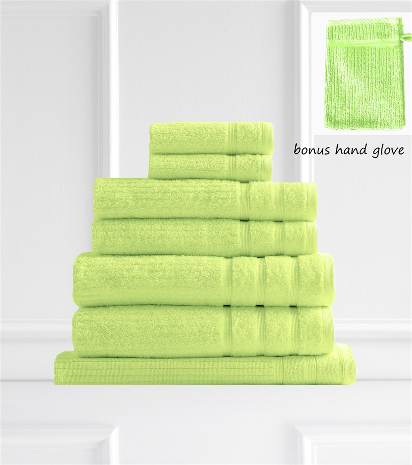 Royal Comfort Eden 600GSM 100% Egyptian Cotton 8 Piece Towel Pack Spearmint