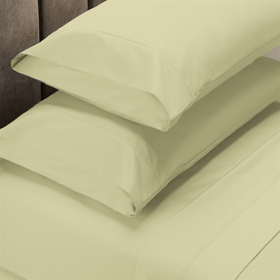 Renee Taylor 1500 Thread Count Cotton Blend Sheet Set - King - Ivory