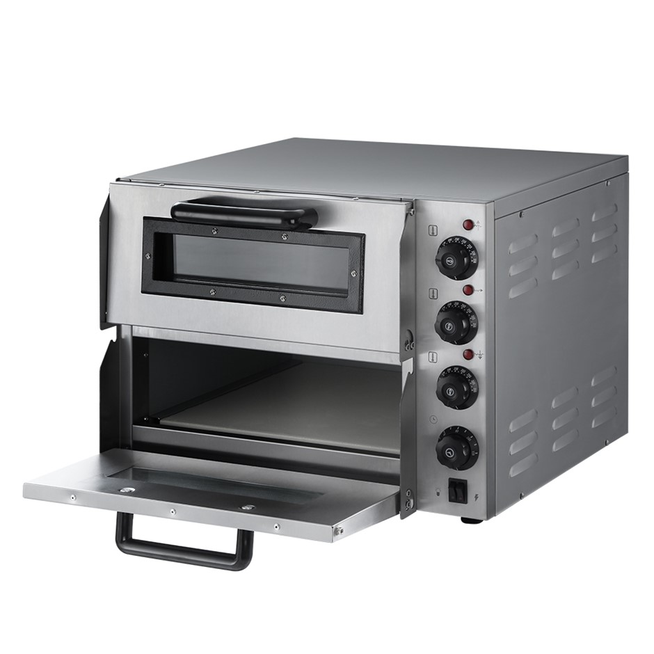 Devanti Electric 3KW Pizza Oven Maker Commercial Twin Deck Stainless Steel