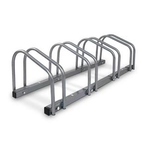 Portable Bike 4 Parking Rack- Silver