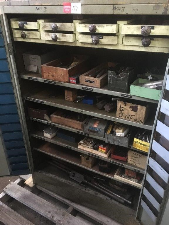 Steel Cupboard With Large Quantity Of Taps
