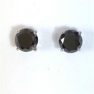 18ct White Gold, 3.08ct Diamond Earring