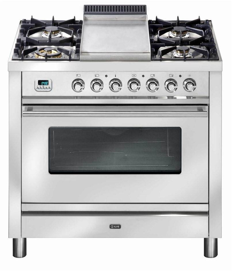 ILVE 90cm Stainless Steel Freestanding Electric Oven/Stove (PW90IMP)