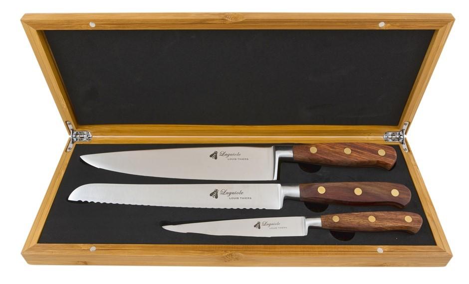 Laguiole LT Sequoia 3-Piece Kitchen knife set