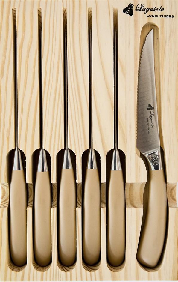 Laguiole by Louis Thiers Mondial 6-piece Steak Knife Set - Rose Gold
