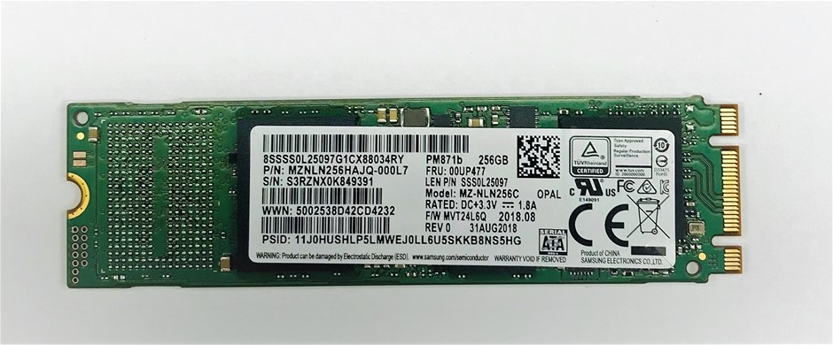 Samsung M.2 2280 SATA 256GB Solid State Drive Part# MZNLN256HAJQ-000L7