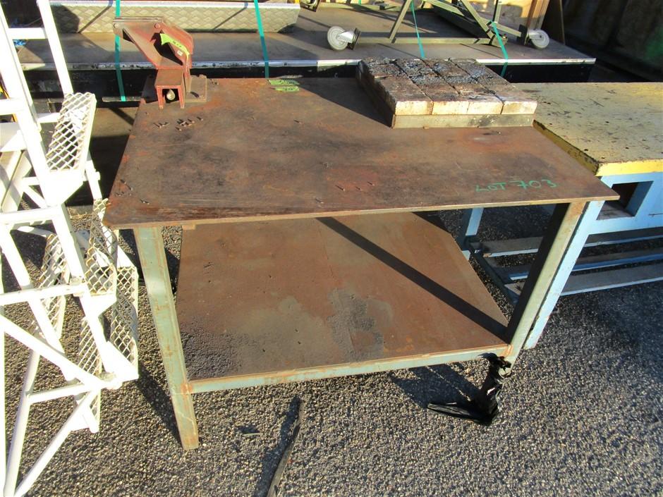 (Lot 703) Steel Framed Welding Bench